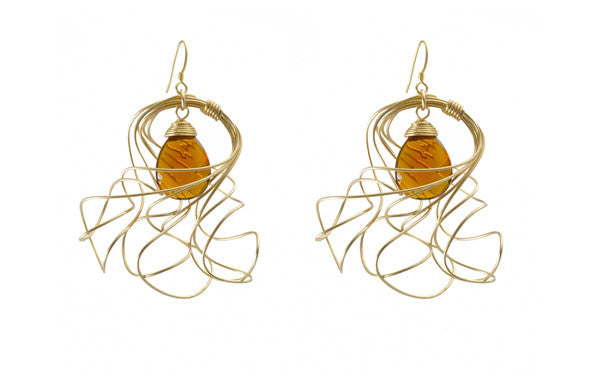Susan Hanover Designs Amber Colored Stone