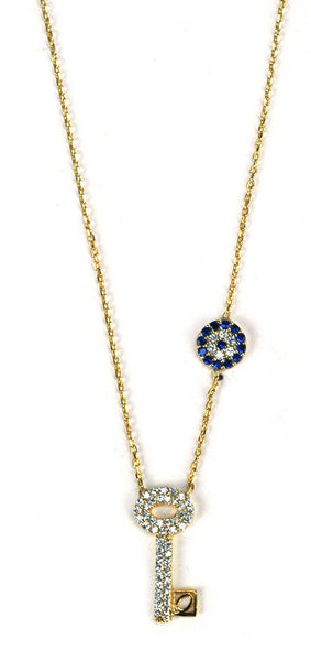 "Susan Hanover Designs |  ""Evil Eye"" Fearless Key Necklace - 25% off"