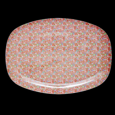 Rice DK Melamine Trays | Little Red Flowers Print