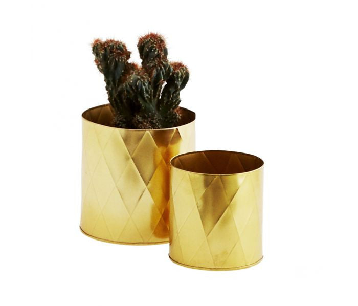 Madame Stoltz | Set of 2 Geometric Gold Pot Holders Save  View More Duplicate