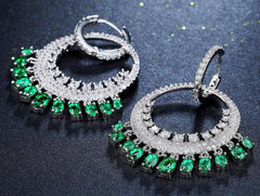Round Ethnic Dangling Drop Earrings