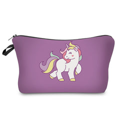 Cosmetic Unicorn Makeup Bags in Assorted Prints