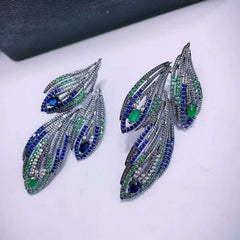 Cubic Zirconia Women Bridal Earrings