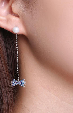 Fish Crystal Drop Earrings