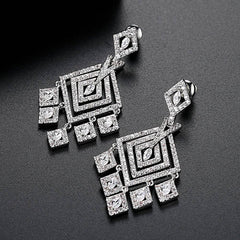 Drop Micro setting Retro Style Earrings
