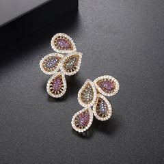 Stud Earrings with Multi Stones.
