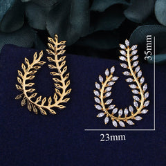 Olive Branch Earring Full Cubic Zirconia