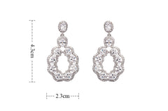 Cubic Zirconia Plant Dangle Earrings