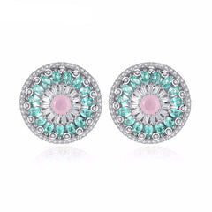 Silver Color Stud Earrings