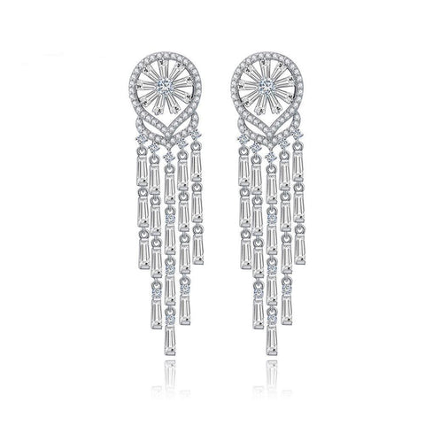 Long Vinatge Studs earrings with long Baugetts,just as excusite as it looks.