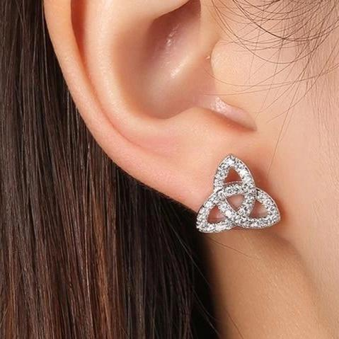Stud Earrings White Gold Color Boucle D