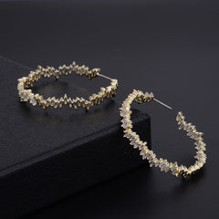 Geometric Circle Trendy Bagguette Earrings
