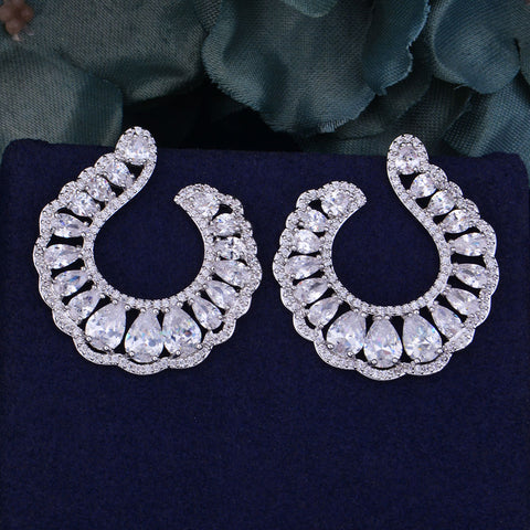 Waterdrop Cubic Zirconia Naija Earrings
