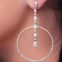 Round Circle Sliver rose or gold color Earringss.