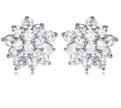 UMODE New Flower Trendy Cute AAA+ Clear CZ Stud Earrings for Women Fashion Engagement Party Jewelry pendientes mujer moda UE0362