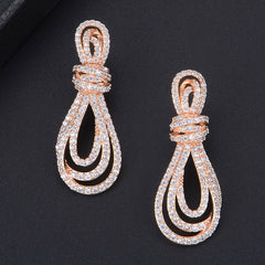 Full Mini Cubic Zirconia Drop Earrings