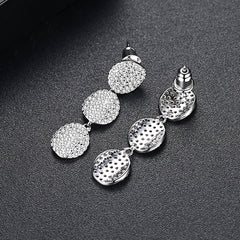 Three Tier disc drop Eearrings