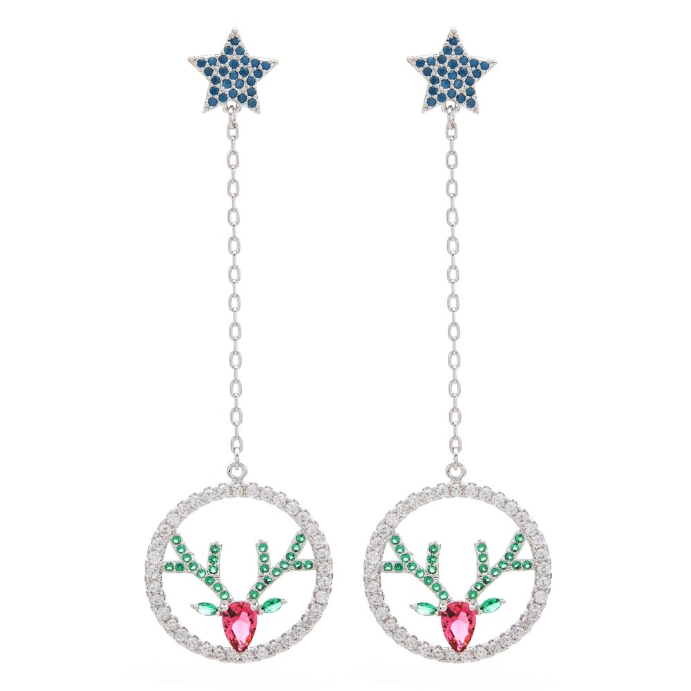 Christmas deer Drop Earrings