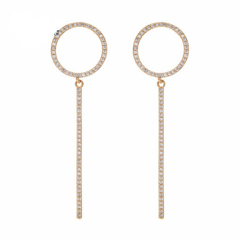 Zirconia Drop Ring earrings