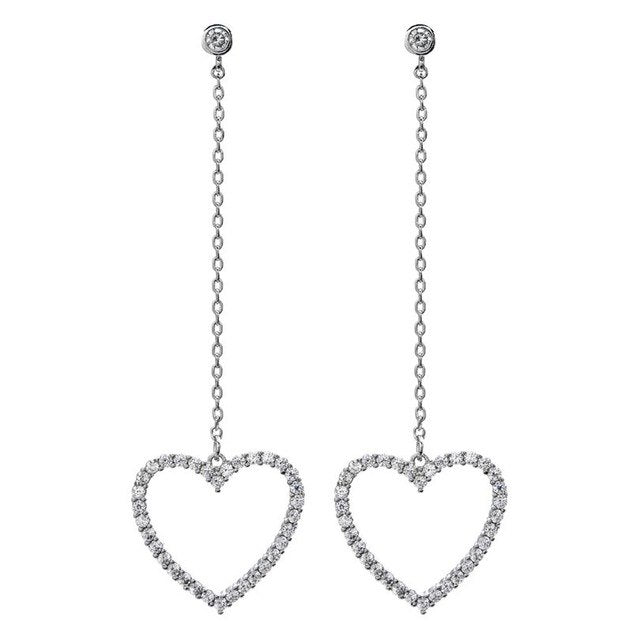 Heart Shape Drop Earrings