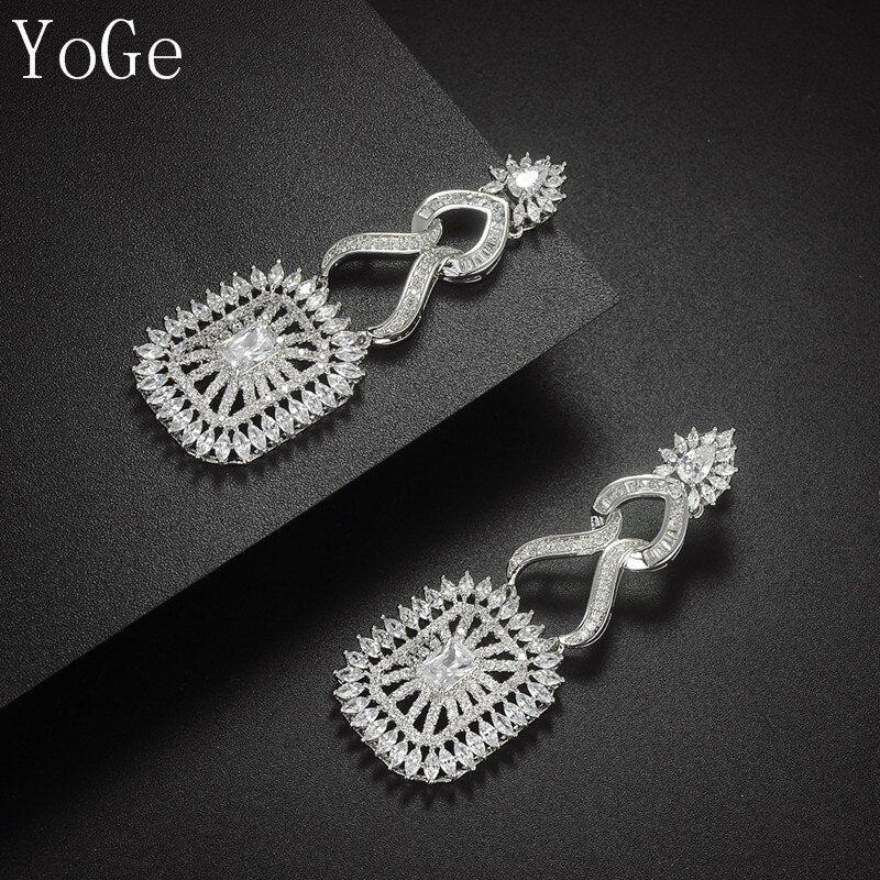YoGe E6359  fashion  AAA cubic zirconia middle east style drop earrings  women's  accessaries jewelry