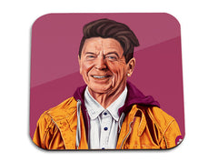 Hipstory | Ronald Reagan Wooden Coaster