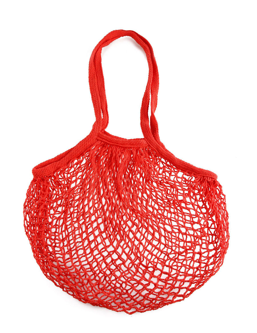Cotton Mesh Red Tote Bag | Cool Eco Bags