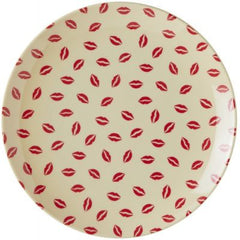 Rice Dk | Melamine Dessert Plate with Kiss Print