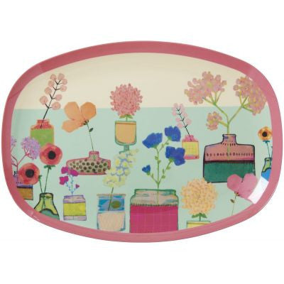 Rice Dk | Melamine Rectangular Tray Flower Display Print