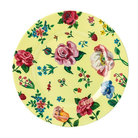 Petit Jour Yellow Melamine Side Plate Flower Print