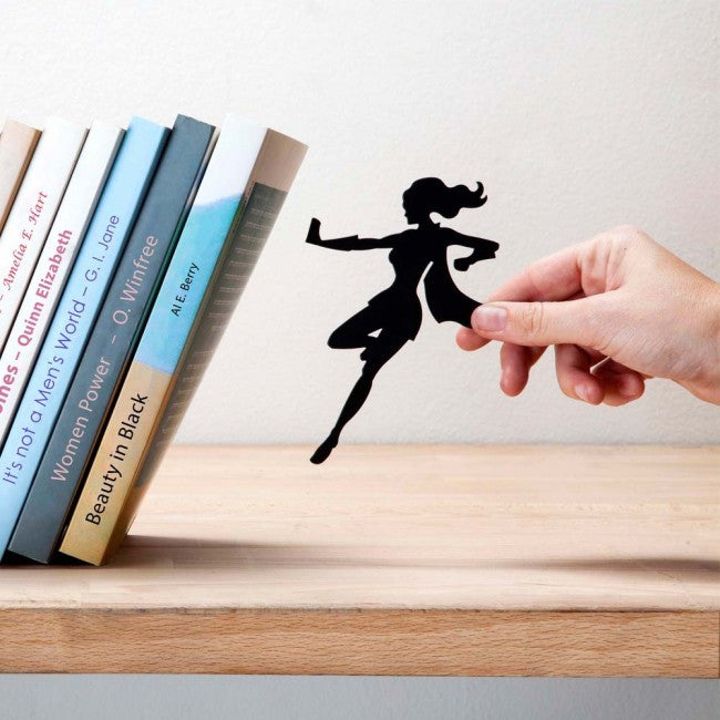 "Artori Design | Book & Hero Bookends ""Save"" Books from Falling"