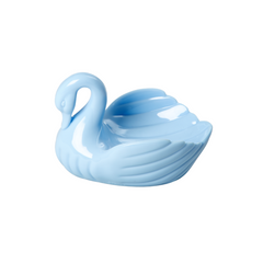 Rice DK Turquoise Swan Soap Dish