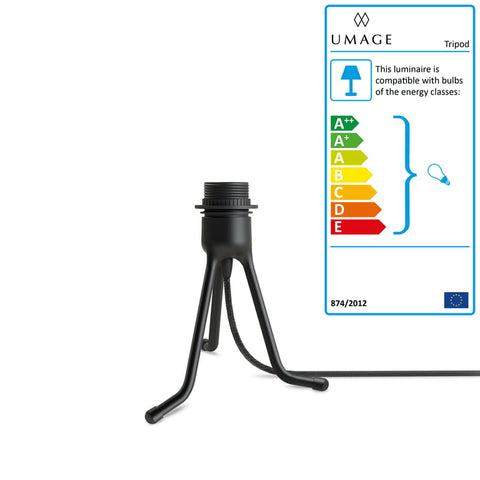 Umage Lighting | Low Table black tripod stand