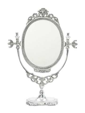 Lisbeth Dahl Large Silver Country Style Table Mirror