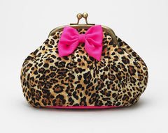 Lisbeth Dahl Leopard's Bow Cosmetic Bag