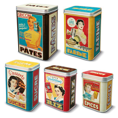 Set of 5 Vintage Storage Boxes | Natives