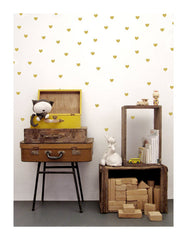 Wall Decal 90 Gold Heart Stickers | Tayo Studio