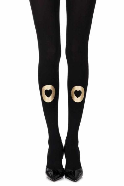 "Zohara Grey ""INTO MY HEART"" HEATHER GREY PRINT TIGHTS"