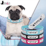 Personalized Dog Collar Suede Leather With Rhinestone | Model: Infinite