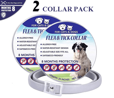 (2 Pack) Kill Flea and Tick Collar - 8 Months Protection