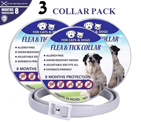 (3 Pack) Kill Flea and Tick Collar - 8 Months Protection