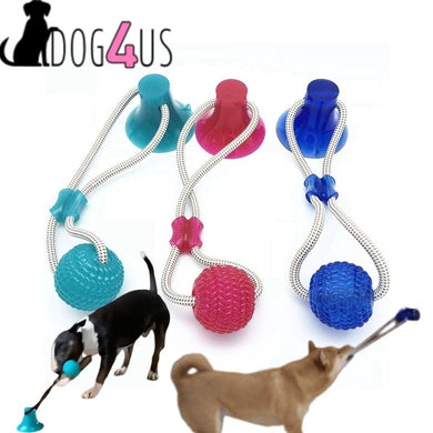Dog4us Dog Toy Suction Cup with Ball Self Playing Teeth Cleaning Chewing Playing