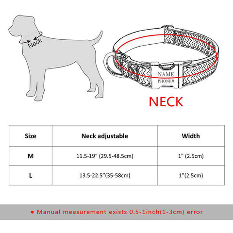 Image of Personalized Dog Collar  - Nylon Adjustable | Model: Britta
