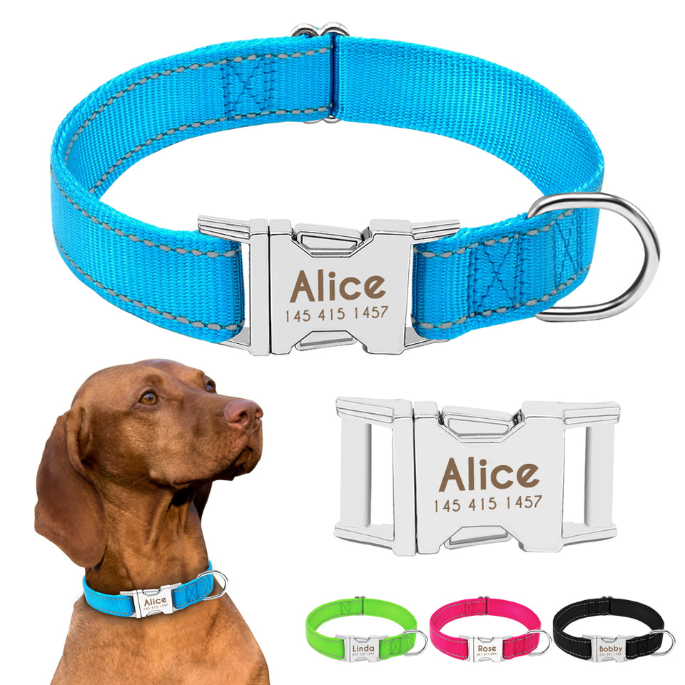 Personalized Reflective Dog Collar | Model: Snoopy