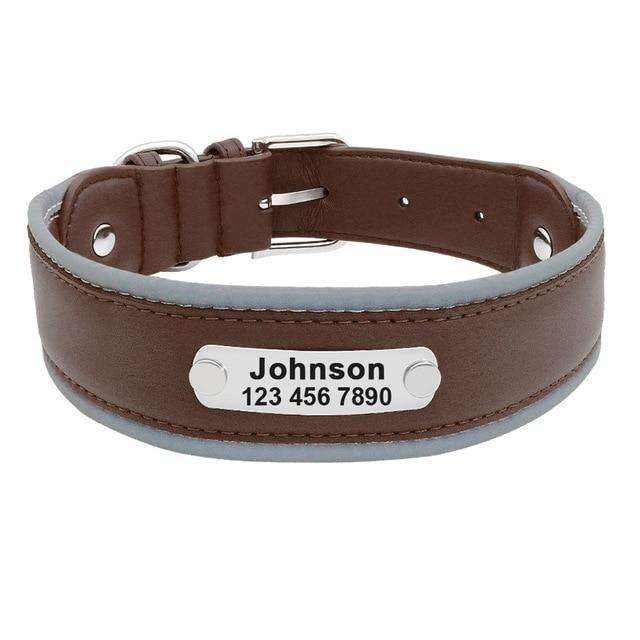 8bcf0bfb426d Personalized Dog Collar Reflective with Soft Padded Leather   Model: Erica