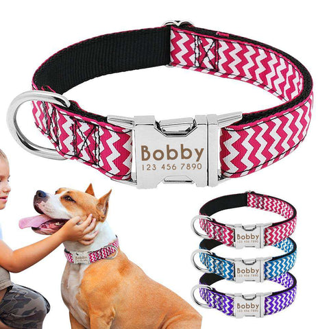 Personalized Dog Collar  - Nylon Adjustable | Model: Britta