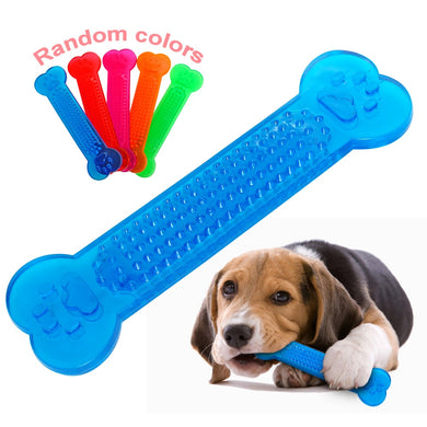 Dog Toy Interactive Rubber Bone Toy Chewing Teeth Cleaning Bite-Resistant