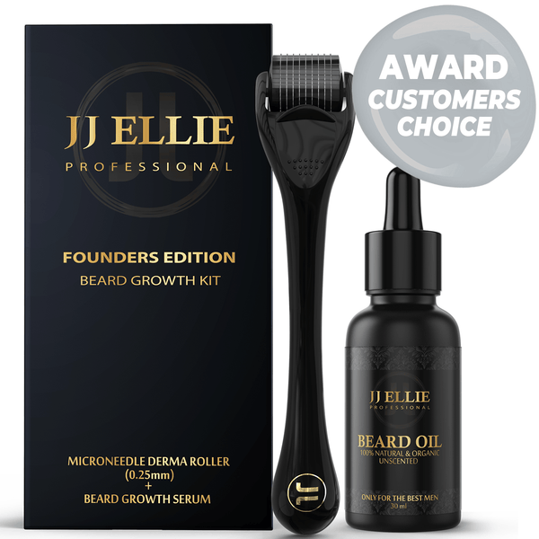 JJ ELLIE Derma Roller Beard Kit Edition