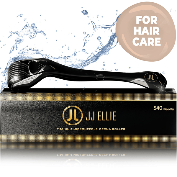 JJ ELLIE Derma Roller For Hair Regrowth : Microneedling Home Skincare Roller 0.25mm