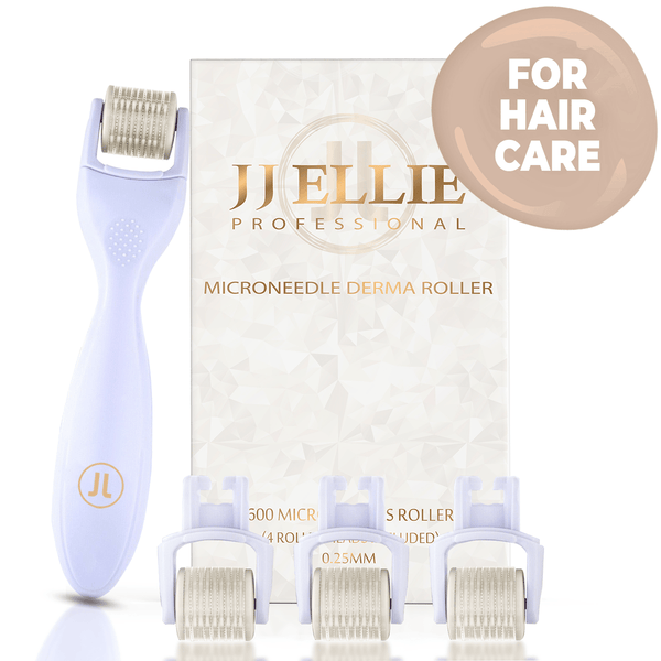 JJ ELLIE 600 Microneedle Hair Regrowth Roller : 4 Replacement Head